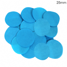 Turquoise Tissue Paper Confetti | 25mm Round | 100g Bag